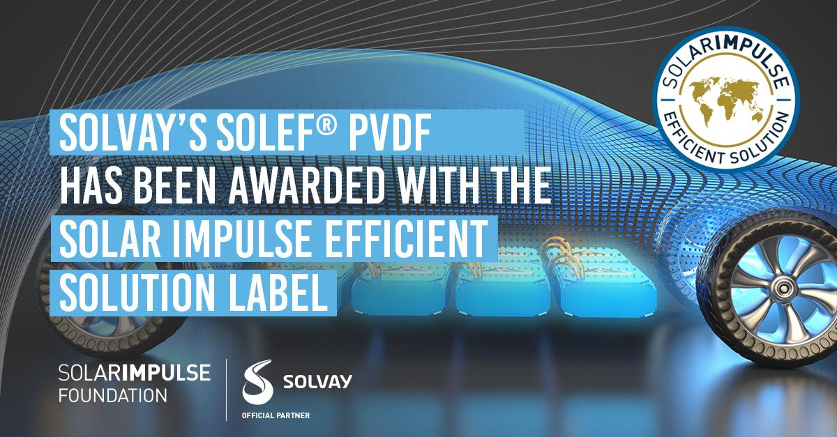 Solef PVDF Awarded Efficient Solution Label